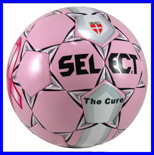 "Select ""the Cure"" Pink Soccer Ball"